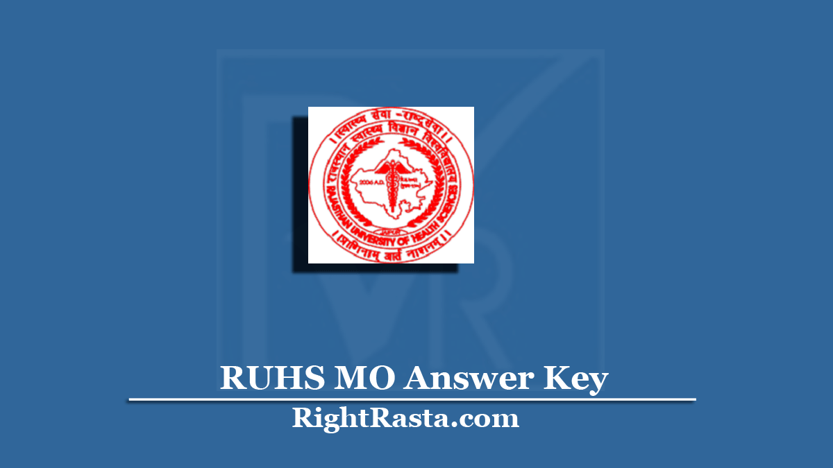 RUHS MO Answer Key
