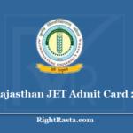 Rajasthan JET Admit Card 2020 - (Postponed) AU Kota Joint Entrance Test