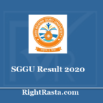 SGGU Result 2020 - Download Shri Govind Guru University UG PG Exam Results