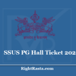 SSUS PG Hall Ticket 2020 - Download Entrance Exam Admit Card @ ssusonline.org