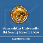 Saurashtra University BA Sem 4 Result 2020 - Download SU B.A. Semester 4th Results