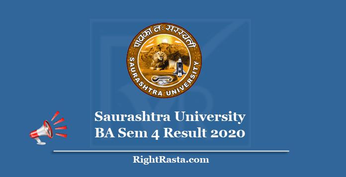 Saurashtra University BA Sem 4 Result