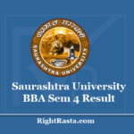 Saurashtra University BBA Sem 4 Result 2020 - Download SAU Uni Semester 4th Results