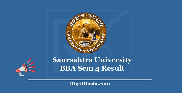 Saurashtra University BBA Sem 4 Result
