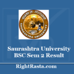 Saurashtra University BSC Sem 2 Result 2020 - SU B.Sc. 2nd Semester Results
