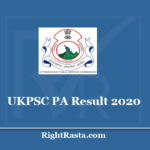 UKPSC PA Result 2020 - Download Uttarakhand PSC Personal Assistant Prelims Results