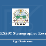 UKSSSC Stenographer Recruitment 2020 - Apply Online Form for Uttarakhand Steno Vacancy