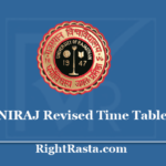 UNIRAJ Revised Time Table 2020 - Rajasthan University UG PG New Exam Date Sheet PDF