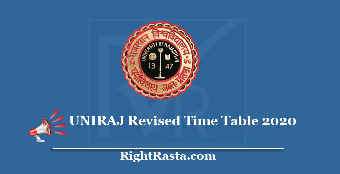 UNIRAJ Revised Time Table