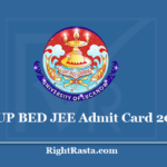 UP BED JEE Admit Card 2020 - Download B.Ed Entrance Test Hall Ticket