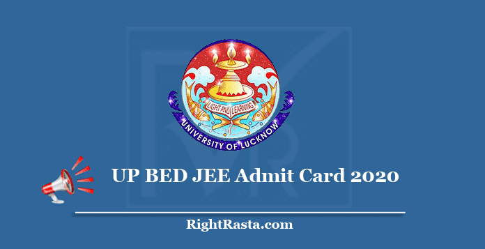 UP BED JEE Admit Card 2020