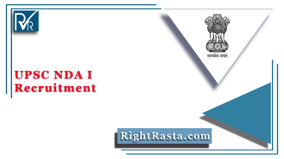 UPSC NDA I Recruitment