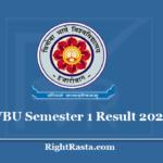 VBU Semester 1 Result 2020 - Vinoba Bhave University 1st Sem Results @ www.vbu.ac.in