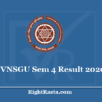 VNSGU Sem 4 Result 2020 - Veer Narmad South Gujarat University 4th Semester Results