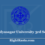 Vidyasagar University 3rd Sem Result 2020 - Download VU CBCS BA, BSC, BCOM, Semester 3 Results