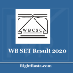 WB SET Result 2020 - Download WBCSC State Eligibility Test 22nd Results