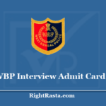 WBP Interview Admit Card 2020 - Download WB Police Constable Interview Call Letter