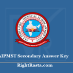 AIPMST Secondary Answer Key 2020 - Check Pre Medical Scholarship Test Exam Key Date