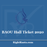 BAOU Hall Ticket 2020 - Check Dr. Babasaheb Ambedkar Open University August Exam