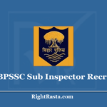 BPSSC Sub Inspector Recruitment 2020 - Apply for Bihar Police SI Vacancy