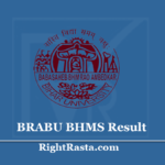 BRABU BHMS Result 2019 (Out) Download Old/New Syllabus Exam Results @ brabu.net