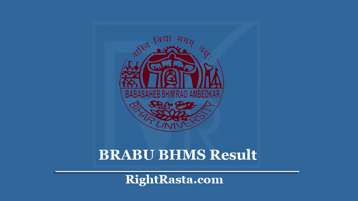BRABU BHMS Result