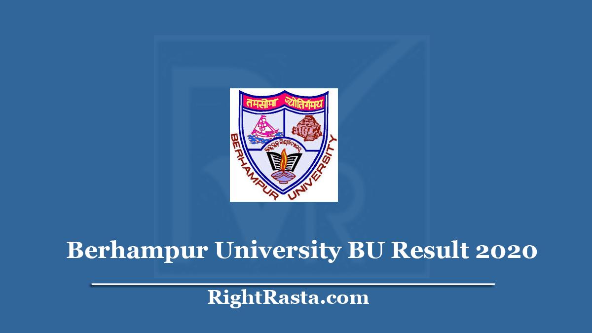 Berhampur University BU Result 2020