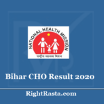 Bihar CHO Result 2020 (Out) Download SHSB Community Health Officer Merit List
