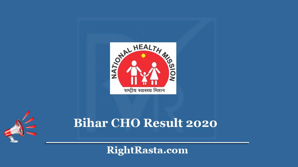 Bihar CHO Result 2020