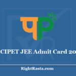 CIPET JEE Admit Card 2020 - (Out) Download Entrance Test Hall Ticket: