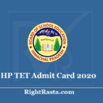 HP TET Admit Card 2020 (Out)- Download HPBOSE Teacher Eligibility Test Hall Ticket