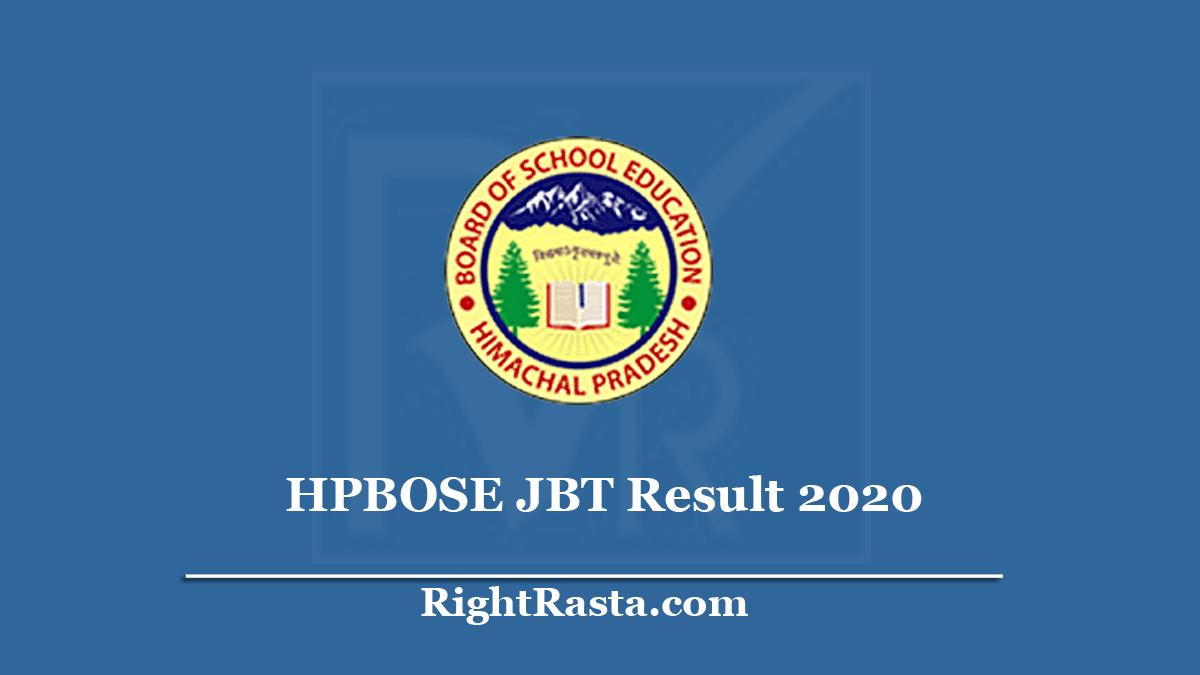 HPBOSE JBT Result