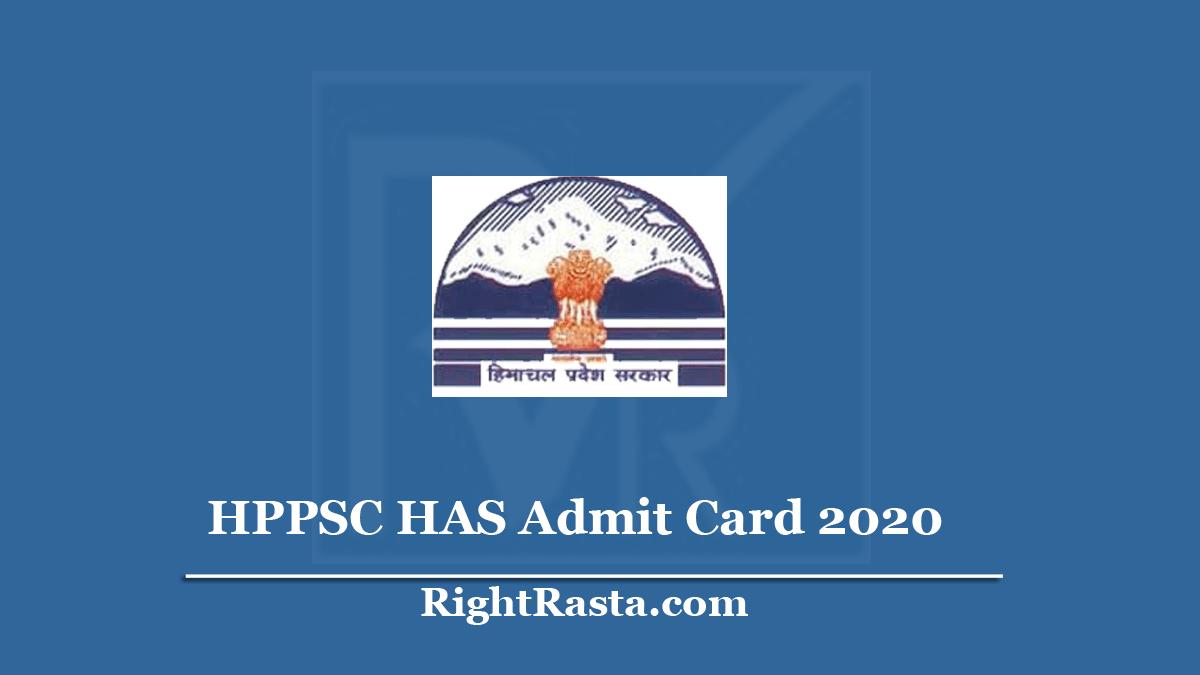 HPPSC HAS Admit Card