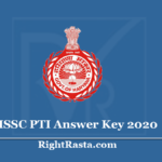HSSC PTI Answer Key 2020 (Out) Download Haryana Physical Training Instructor Exam Key