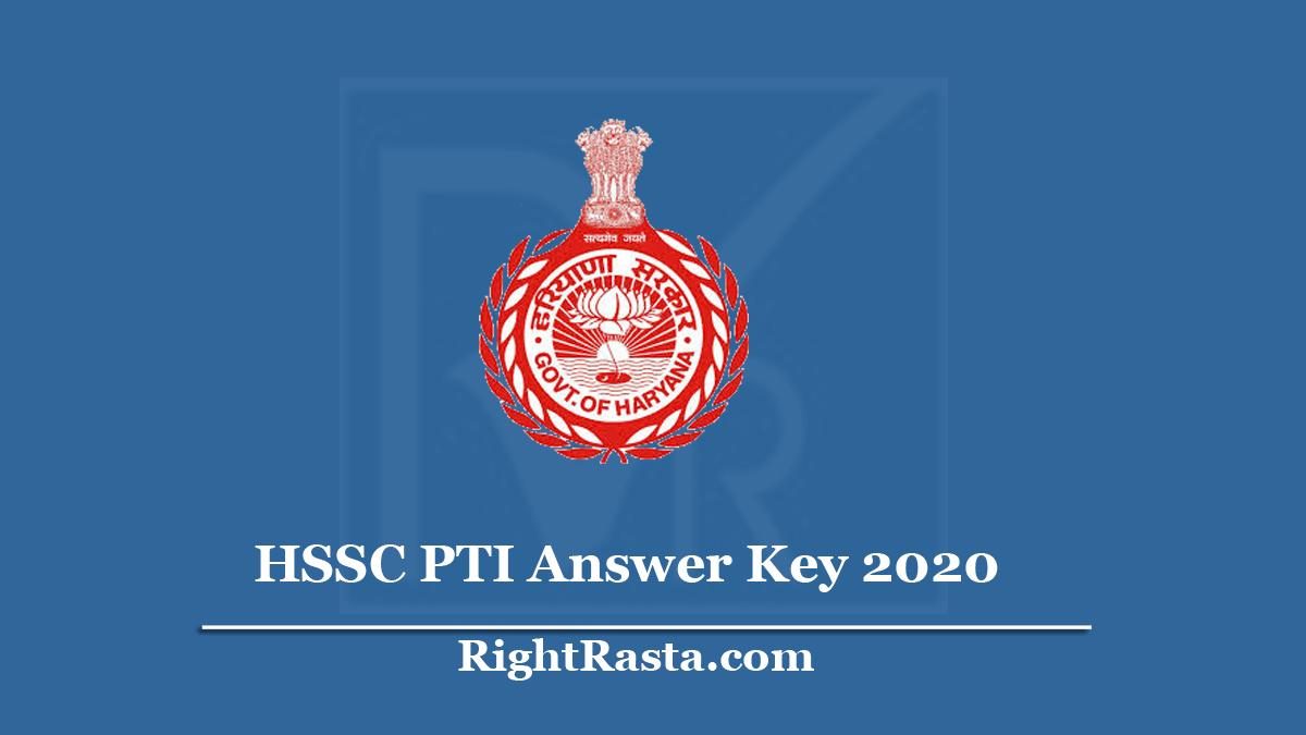HSSC PTI Answer Key