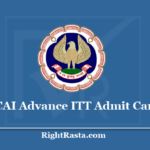 ICAI Advanced ITT Admit Card 2020 (Out) Download ICITSS Exam Hall Ticket