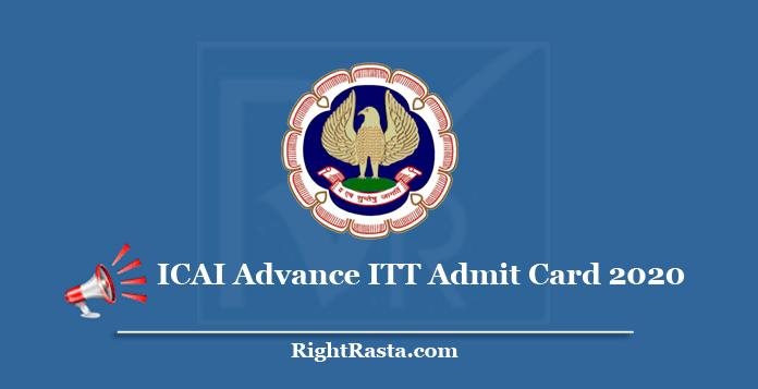 ICAI Advance ITT Admit Card