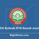 IIM Rohtak IPM Result 2020 (Out) - Download IPMAT Exam Scorecard