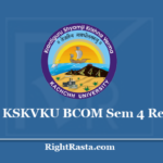 KSKVKU BCOM Sem 4 Result 2020 (Out) Download B.Com Semester 4th Results