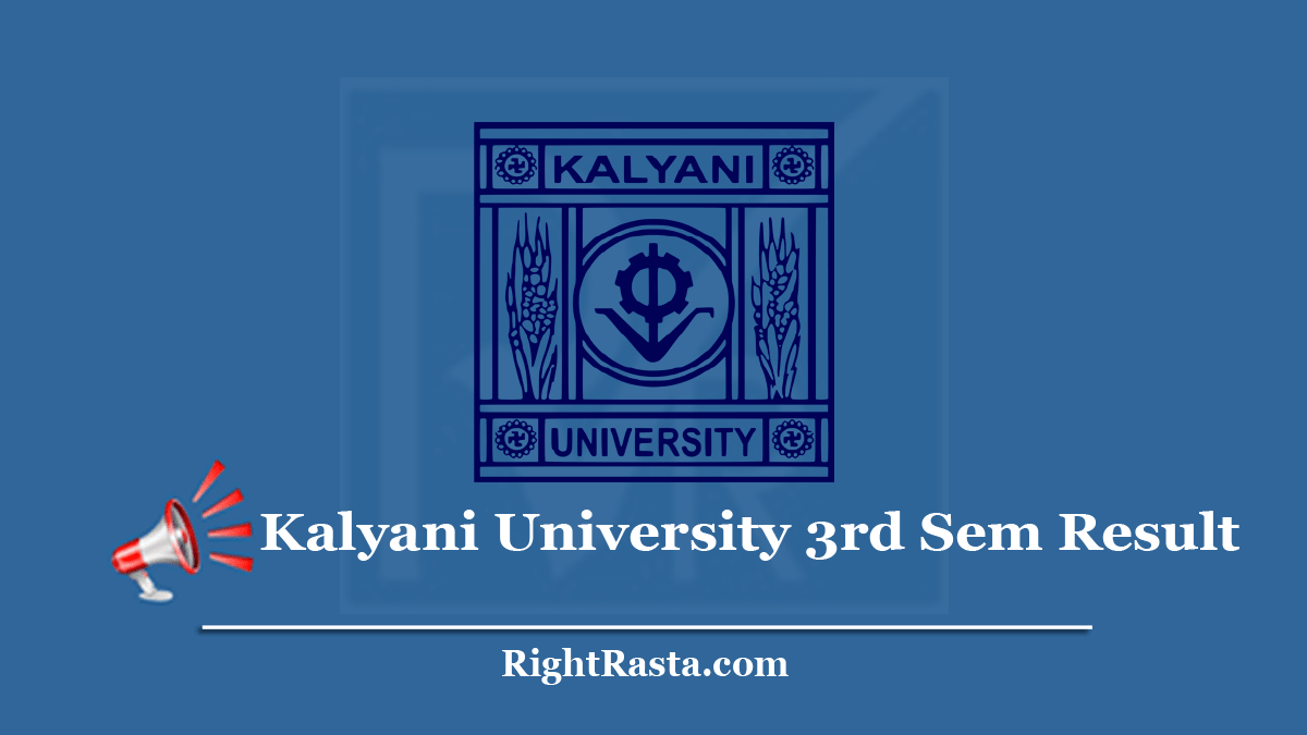 Kalyani University 3rd Sem Result