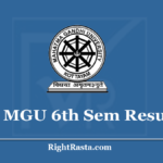 MGU 6th Sem Result 2020 (Out) Download MG University CBCSS Exam Results