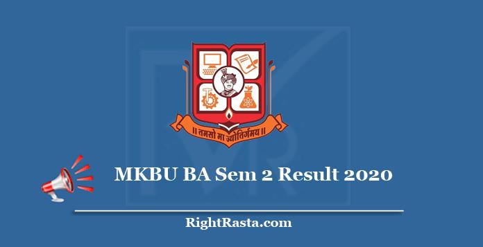 MKBU BA Sem 2 Result 2020