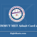 MMMUT MET Admit Card 2020 - (Out) Download Entrance Test Hall Ticket