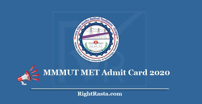 MMMUT MET Admit Card