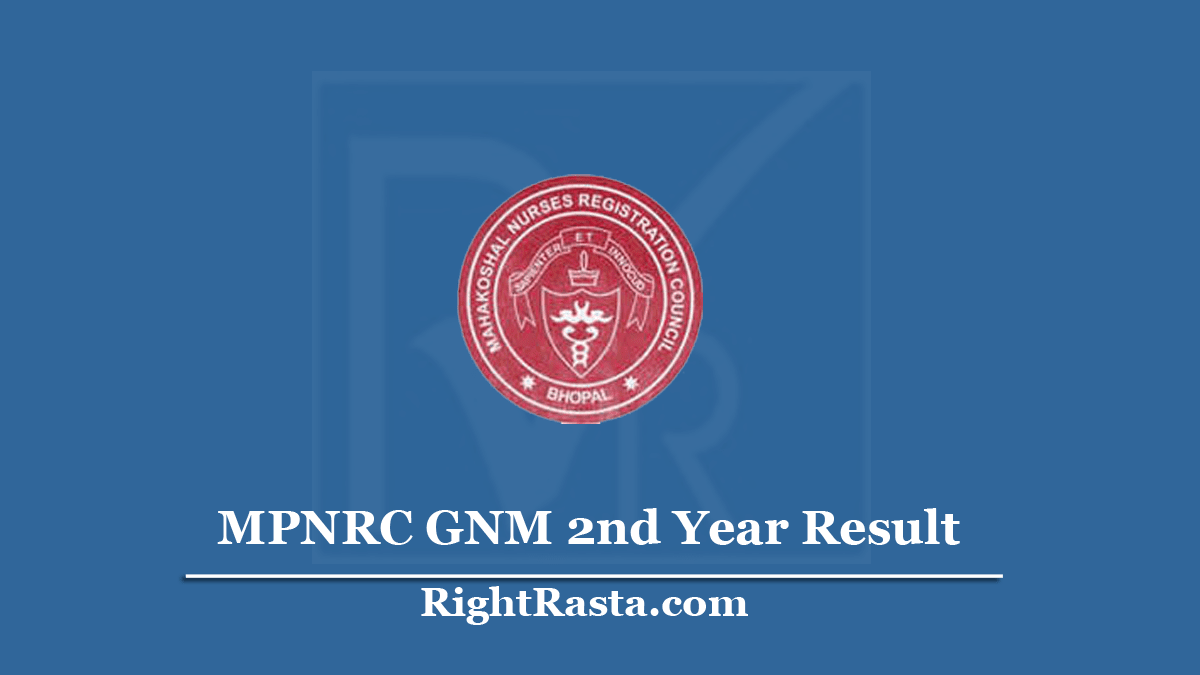 MPNRC GNM 2nd Year Result