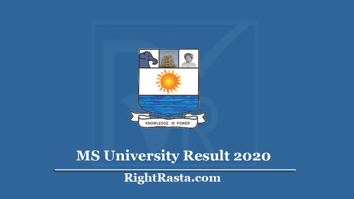 MS University Result 2020