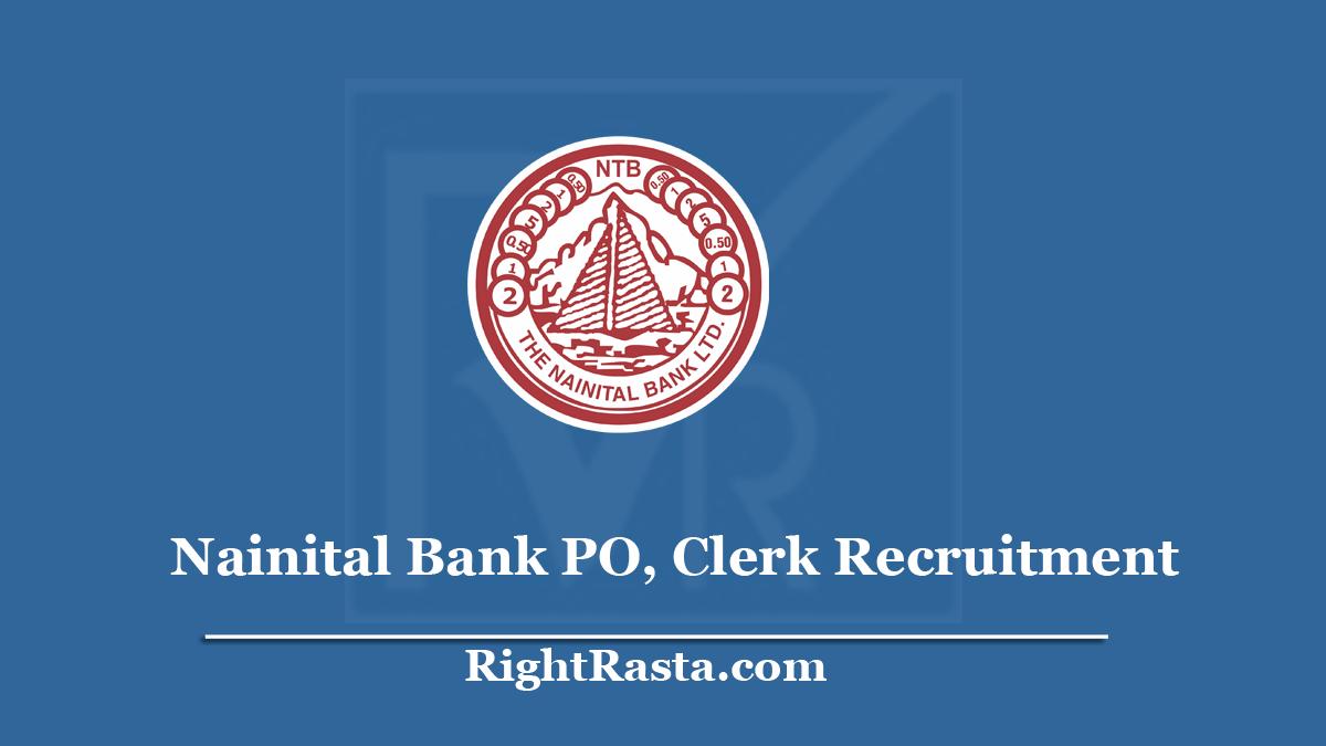 Nainital Bank PO Clerk Recruitment