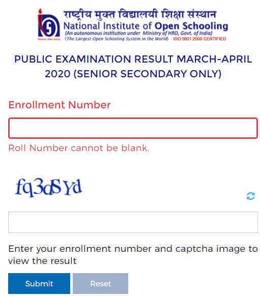 Open School Class 12 Result 2020