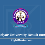 Periyar University Result 2020 (Out) Download PU UG & PG Exam Results