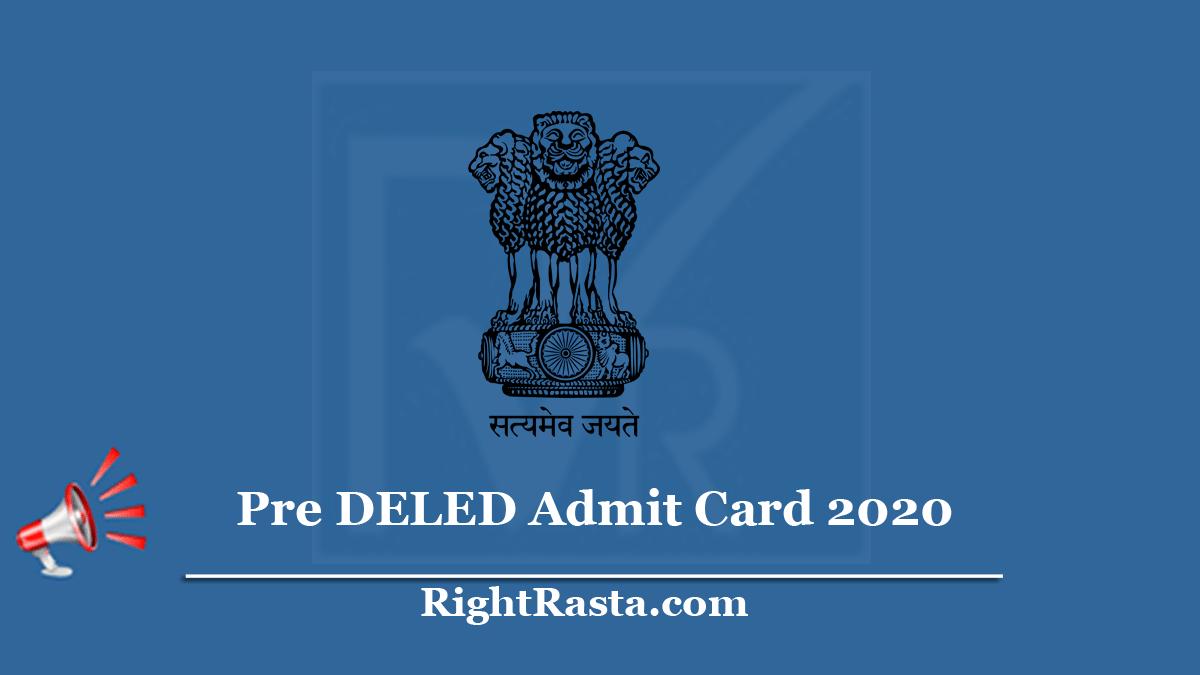 Pre DELED Admit Card